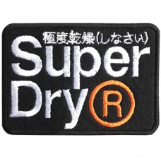 SUPERDRY R embroidery arm square / Size 8 * 5.5cm # embroidered black and white, orange, black background High quality embroidery No.P7Aa52-0458