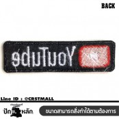 Embroidery arm YOUTUBE LOGO / Size 8 * 2cm # Embroidery white, red, black, black High quality embroidery No.P7Aa52-0460