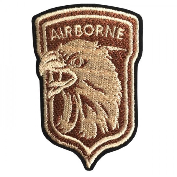 Embroidery arm AIR BONE EAGLE TATAMI / Size 6 * 4cm # Cream brown No.P7Aa52-0478