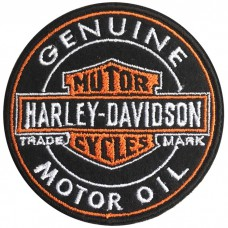 HARLEY MOTOR OIL Embroidery Arm / Size 7 * 7cm # Embroidered black, white, orange, black No.P7Aa52-0482