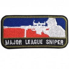MAJOR LEAGUE SNIPER embroidery arm square / Size 7.5 * 3cm # embroidered green, red, blue, black background No.P7Aa52-0475
