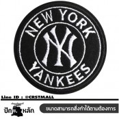 Embroidery arm NEW YORK YANKEES / Size 6 * 6cm # Embroidery black, white and black No.P7Aa52-0483