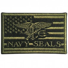 NAVY SEALS embroidery arm American Flag Bird / Size 8 * 5cm # green embroidery black No.P7Aa52-0477