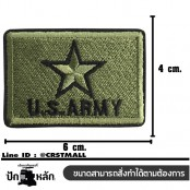 Embroidery Arm US ARMY Star Square / Size 6 * 4cm # Embroidered Green, Black, Black No.P7Aa52-0474