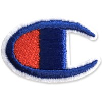 Shirt Iron on the shirt, embroidered with Champion LOGO C / Size 3 * 2cm # embroidered blue, red, white background Model P7Aa52-0502