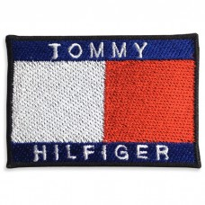 Patch Iron on the shirt, embroidered with Tommy hilfiger / Size 6 * 4cm. Model P7Aa52-0503