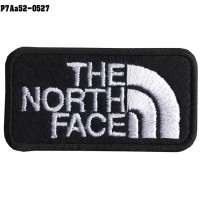 Shirt Iron on the shirt, embroidered with THE NORTH FACE / Size 6 * 3cm # Embroidered black, white, black background model P7Aa52-0527