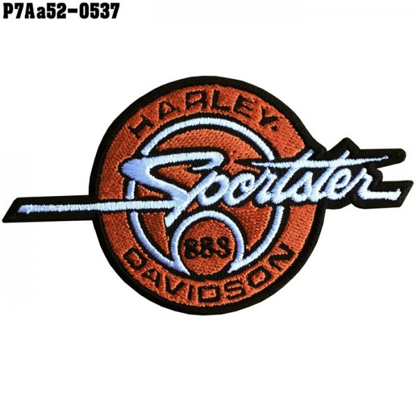Shirt Iron for attaching to the shirt, embroidered with HARLEY SPORTSTER883 / Size 10 * 5.5cm.