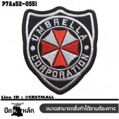 Shirt The iron is attached to the shirt, embroidered Umbrella corporation shield / Size 7 * 6cm # embroidered red, white, black, poly black background. Good quality embroidery with durable model P7Aa52-0551