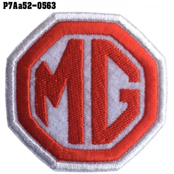 Shirt Iron, stick, shirt, arm, embroidered, car logo, MG / Size 6 * 6cm #, embroidered white, red, white Long-lasting, high-quality embroidery model P7Aa52-0563