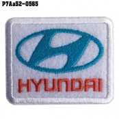 Shirt Iron, stick the shirt, embroidered car logo HYUNDAI / Size 5.3 * 4.3cm # embroidered white, red, blue, white background Good quality embroidery, sharp lines, model P7Aa52-0565.