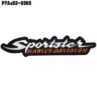 Shirt Iron on the shirt, embroidered HARLEY Sportsters letters / Size 10 * 2cm Good quality embroidery, sharp lines, model P7Aa52-0569.