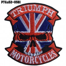 Shirt Iron on the shirt, embroidered with TRIUMPH logo, skull head / Size 8 * 7cm High-quality, detailed embroidery, model P7Aa52-0581.