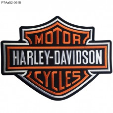 Harley-Davidson Patch Embroidered on black poly fabric /Size 28*21.5cm,Good Quality Detailed, model P7Aa52-0618