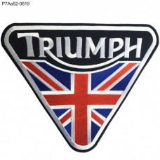 TRIUMPH Patch, embroidered with a UnionJack Design large piece /Size 25*20.5cm P7Aa52-0619