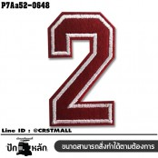 Embroidered number 0-9 patch #embroidered white on red fabric /SIZE 7*4 high quality detail No.P7Aa52-0646