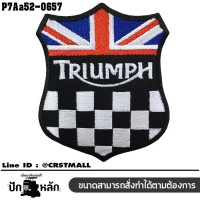 Triumph Union Jack Embroidered Arm Shield Black Red Blue White/SIZE 7*6cm detailed embroidery model P7Aa52-0657
