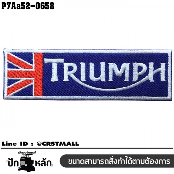 Regtangle Embroidered Arm TRIUMPH, UnionJack color flag /Size 10*3cm, good quality embroidery, sharp lines P7Aa52-0658