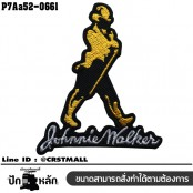 Johnnie Walker patch /Size 7*6cm #embroider black, yellow, black on back cloth , detailed work No.P7Aa52-0661