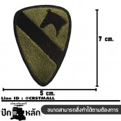 Black Cavalry Embroidered Arm / Size 7 * 5cm # Green-Black Embroidered with Velcro Sleeve No.P7Aa60-0003