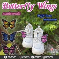 shoe pad shoe mount butterfly wings D.I.Y shoe decoration set for women, 1 pair, 3 colors, 3 sizes, model P7Aa71-0001