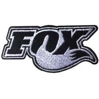 """Striped embroidery """"FOX Hot font size 8x4 cm, black and white embroidery Stick to the shirt attached to the military Stick to fashion products DIY work clothes Embroidery No.F3Aa51-0005"""