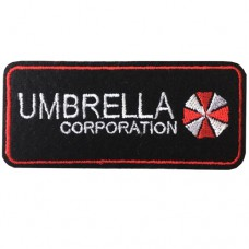 "Embroidered Arm ""UMBRELLA Circle size 7.5x3 cm Embroidered white, red, black Stick to the shirt attached to the military Stick to fashion products DIY work clothes Embroidery No.F3Aa51-0005"