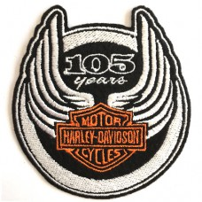 อาร์มรีดติดเสื้อผ้า ปัก HARLEY แผ่นรีดติดเสื้อ ปักรูป HARLEY 105ปี อาร์มติดเสื้อลาย HARLEY อาร์มติดเสื้อลาย HARLEY ตัวรีด ปักลาย ฮาเล่ พร้อมส่ง F3Aa51-0009