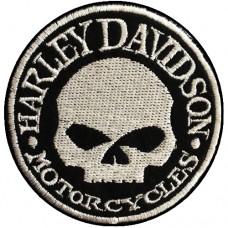 อาร์มรีดติดเสื้อผ้า ปัก HARLEY แผ่นรีดติดเสื้อ ปักรูป HARLEYวงกลม อาร์มติดเสื้อลาย HARLEY อาร์มติดเสื้อลาย HARLEY ตัวรีด ปักลาย ฮาเล่ พร้อมส่งNo.F3Aa51-0006