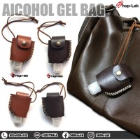 Leather holster for portable size, sew on 1 side, solid color, can be hung on Easy to apply. Available in 2 colors. No.F7Ag24-0019