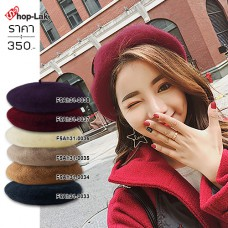 Beret Hat, Wool Painter The fabric is not soft. All sizes of head. In-line size adjustment There are 6 colors. No.F5Ah31-0033