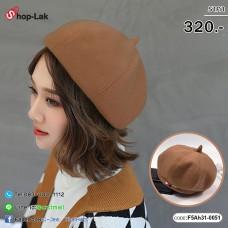 Beret Hat, velvet painter, light brown triangle No.F5Ah31-0051