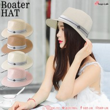 PANAMA HAT WITH RIBBONS ON THE M PANAMA HAT. PRETTY CUTE. NO. F5AH16-0100