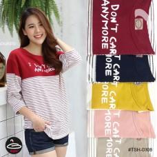 T-shirt pretty women fashion. I DON T CARE freesize with 5 colors No. F1Cs50-1453