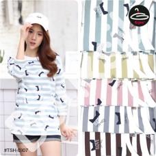 T-shirt pretty women fashion. Long Sleeve T-Shirt Freesize with 5 colors No. F1Cs50-1448