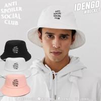 Bucket Hat, embroidered ANTI SOCAIL, hat, hat, strap, child line, belt, hat, ANTI SOCAIL No. F7Ah32-0088