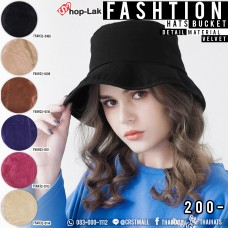 Bucket hat velvet fabric comfortably in 6 colors NO.F5Ah32-0108