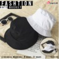 """Bucket hat two sides thick fabric """"black / white, nice fabric, soft texture, not soft, comfortable fabric, comfortable to wear No.F5Ah32-0125"""