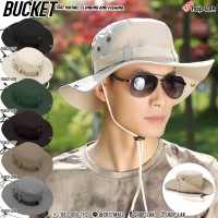 Bucket hats, hiking, With rope around  ,Bucket Hat Hiking, tying rope, Smart and beautiful hats No.F5Ah32-0154