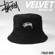 BUCKET hat, Stussy embroidery color, soft velvet fabric, light, comfortable to wear, smooth, cool, stylish, NO.F7Ah32-0030