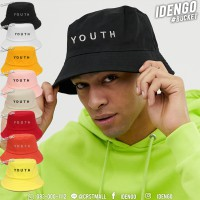Bucket hat, YOUTH embroidered hat, simple text, cool style. No. F7Ah32-0001