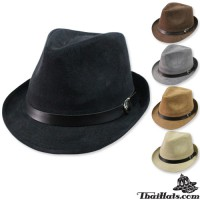 MJ hat, Trilby hat, trilby hat, leather back belt There are 5 colors. No.F1Ah12-0019