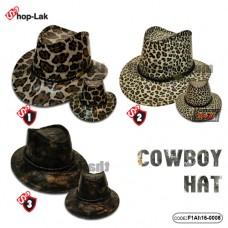 Cowboy hat fashion cowboyhat Shiny plastic There are 3 colors. No.F1Ah16-0008