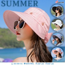 Wide-brimmed hat, wide-brimmed caddy, button-down pattern, removable half-head, soft fabric, comfortable fabric, not uncomfortable No.F5Ah33-0037
