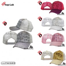 Fashionable cap, back cap, mesh, mixed colors, 5 colors No.F1Ah15-0018
