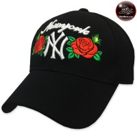 Fashion cap NY embroidered scarf full of rose No.F5Ah15-0508