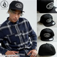 หมวกฮิปฮอปVolcom หมวกแก๊ปVolcom หมวกแก๊ปปีกตรงVolcom สีดำ No.F5Ah47-0224
