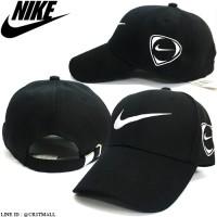 NIKE COVER cap, embroidered nike logo, nike cap, nike hat, black cap, black No.F5Ah15-0638