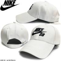 NIKE SB SB white cap, NIKE SB logo, white with 2 colors No.F5Ah15-0640