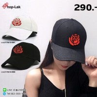 Red rose embroidered cap with 2 colors No.F7Ah15-0006